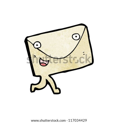 letter cartoon character - stock vector