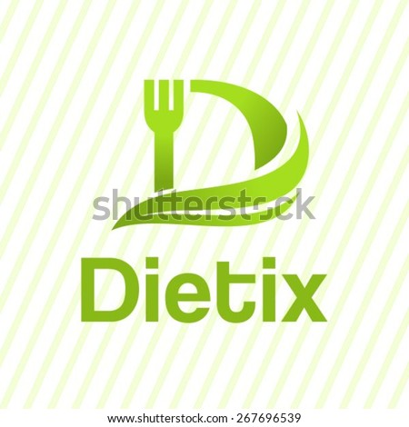 Letter D creative diet logo. - stock vector