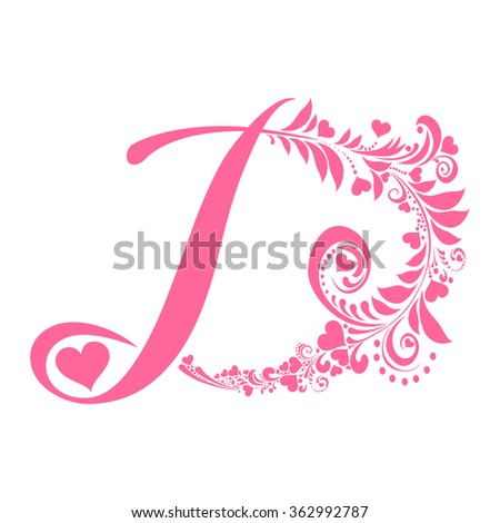 Letter d isolated on white romantic stock vector hd royalty free letter d isolated on white romantic letter of beautiful heart love alphabet set thecheapjerseys Choice Image
