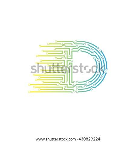 Letter D Logo Design Templatetechnologyelectronicsdigitallogotype ...