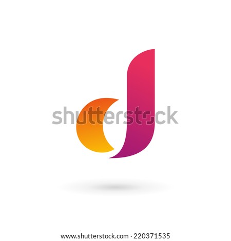 Letter d logo icon - stock vector
