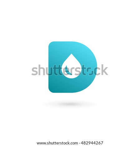 Letter D Water Drop Logo Icon Stock Vector (2018) 482944267 ...