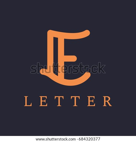 Letter e logo design elegant line stock vector 2018 684320377 letter e logo design elegant line vector logotype luxury linear creative monogram beauty thecheapjerseys Images