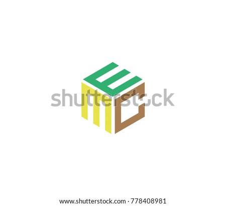 Letter E M C Design Vector Stock Vector 778408981 Shutterstock