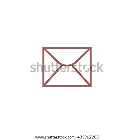 letter, envelope, icon - stock vector