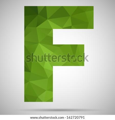 Letter F - stock vector