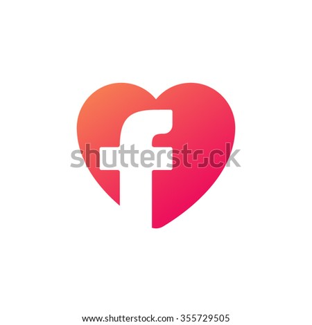 Letter f heart logo icon design stock vector 451506739 shutterstock letter f heart shape icon logo orange red altavistaventures Choice Image