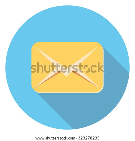 letter flat icon in circle - stock vector