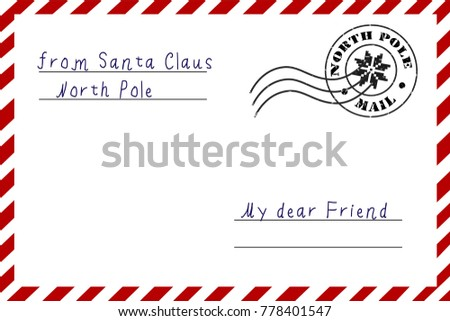Letter santa claus letter north pole stock vector 778401547 letter from santa claus a letter from the north pole postcard in the traditional m4hsunfo