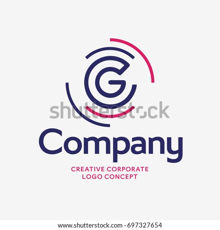 Letter G Company Vector Logo Design Stock Vector 697327654