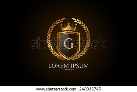 Letter G crest logo. Alphabet logotype vector design. - stock vector