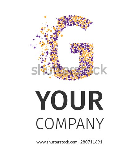 Letter G logo. Alphabet particles logotype vector design. Excellent vector illustration, EPS 10 - stock vector