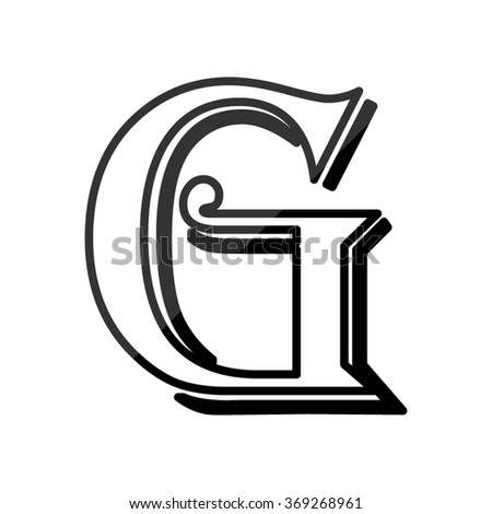 Letter G, vector alphabet - stock vector