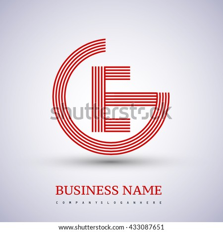 Letter Ge Linked Logo Design Circle Stock Vector 433087651