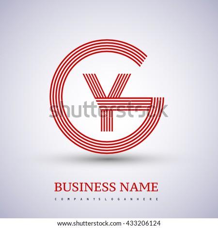 Letter Gy Yg Linked Logo Design Stock Vector 433206124 Shutterstock