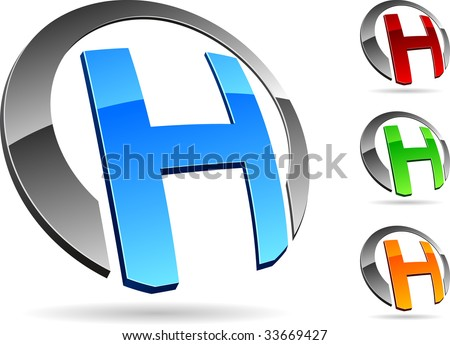 "Letter ""H""  3d vector icons such logos."