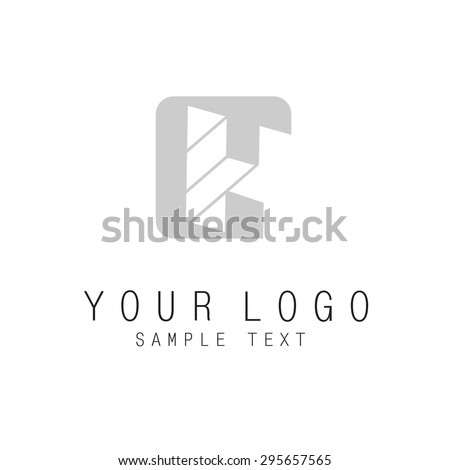 Letter H, geometric colorful 3d style logo with optical illusion effect, element for corporate identity. Vector EPS10 - stock vector