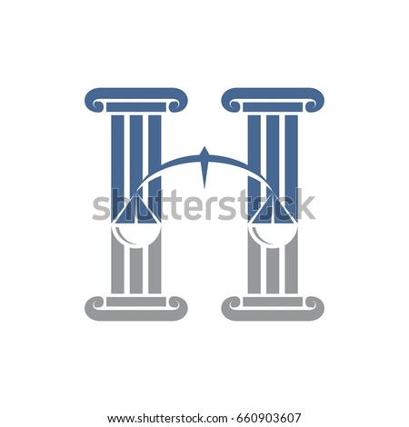 letter h law justice logo template stock vector 660903607 shutterstock