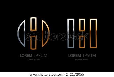 Letter H logo. Alphabet logotype vector design. - stock vector