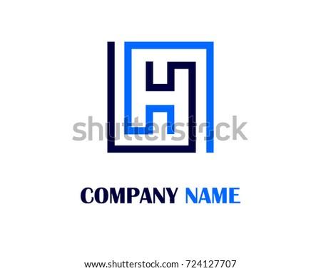Letter h logo template design stock vector 724127707 shutterstock letter h logo template design pronofoot35fo Gallery