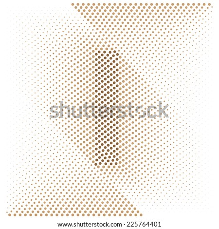 Letter I - Abstract dotted optical illusion alphabet  - stock vector