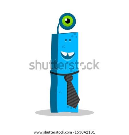 Letter I Monster, vector illustration - stock vector