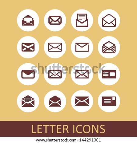Letter icons. Use for app or site. - stock vector