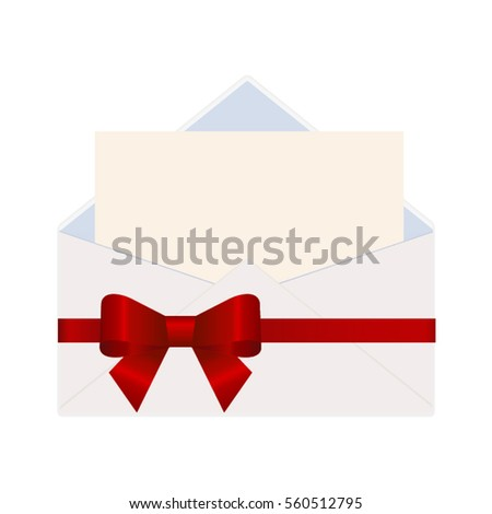 Letter envelope decorated red ribbon bow stock vector 551635750 letter in an envelope decorated with red ribbon bow illustration isolated on white background stopboris Choice Image
