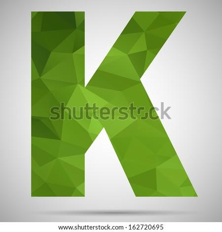 Letter K - stock vector