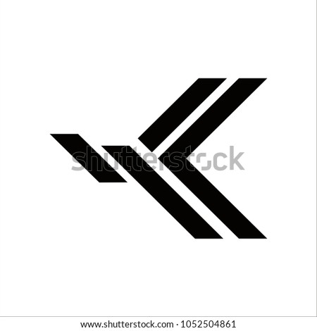 Letter K Logo Icon Design Template Stock Vector 1052504861 ...