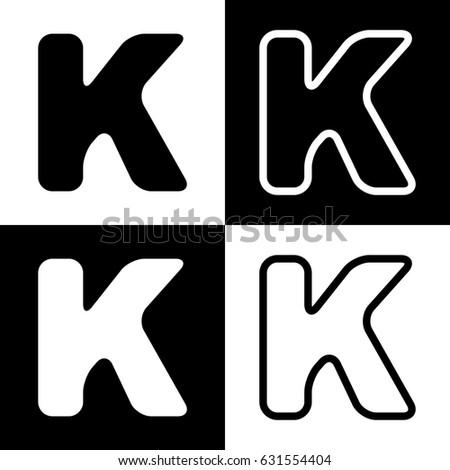 Letter K Sign Design Template Element Stock Vector 631554404 ...