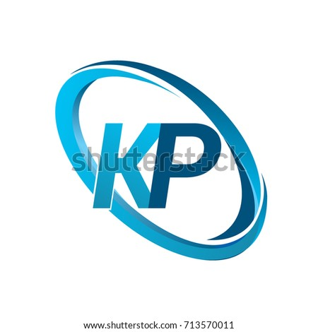 Letter Kp Logotype Design Company Name Stock Vector 713570011