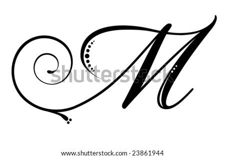 Letter M   Script
