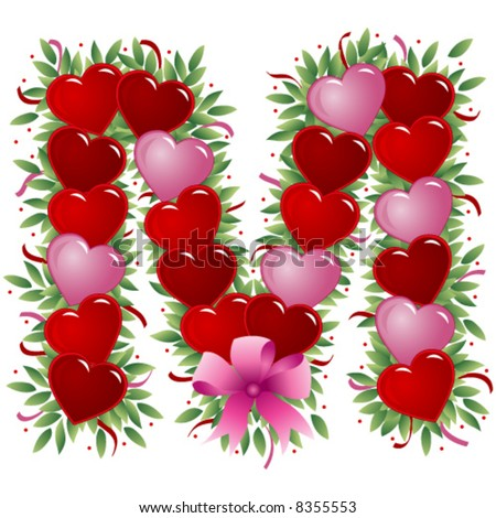 Love Logo Lette... K M Love Logo