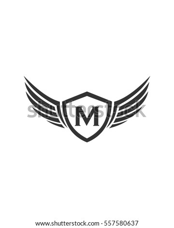 Letter M Wing Logo 스톡 벡터 557580637 - Shutterstock
