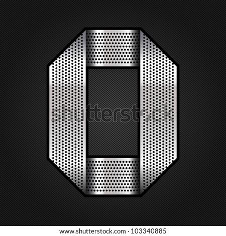 Letter metallic chromium ribbon - O, vector 10eps - stock vector