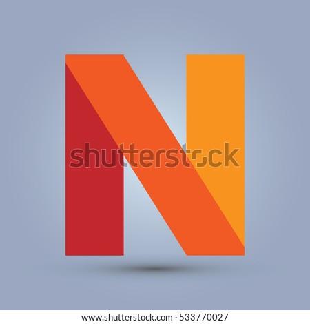 Letter n icon logo template flat stock vector royalty free letter n icon and logo template flat design and elegant typographic maxwellsz