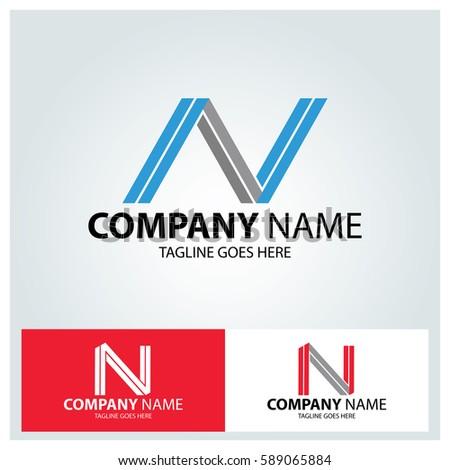 Letter n logo design template line stock vector 589065884 shutterstock maxwellsz