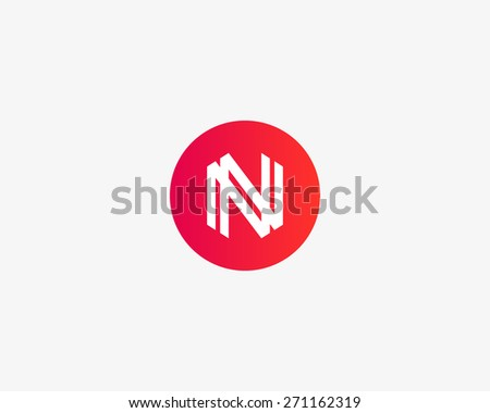 Letter N logo icon vector design - stock vector