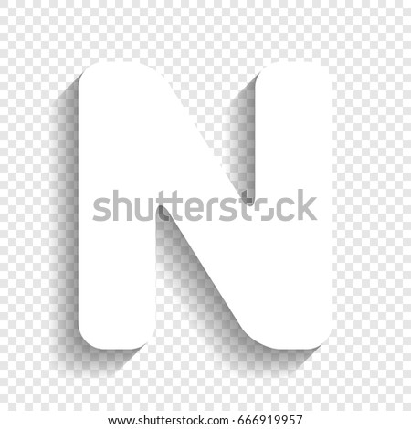 Letter n sign design template element stock vector 666919957 letter n sign design template element vector white icon with soft shadow on transparent maxwellsz