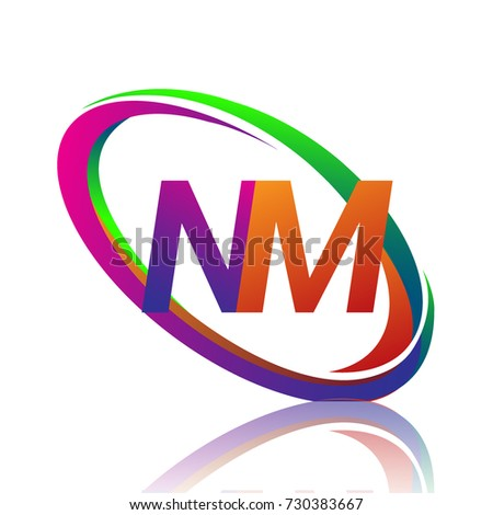 Letter Nm Logotype Design Company Name Stock Vector 730383667