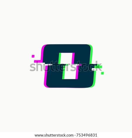 Letter O Glitch Font Vector Isolated Stock Vector 2018 753496831