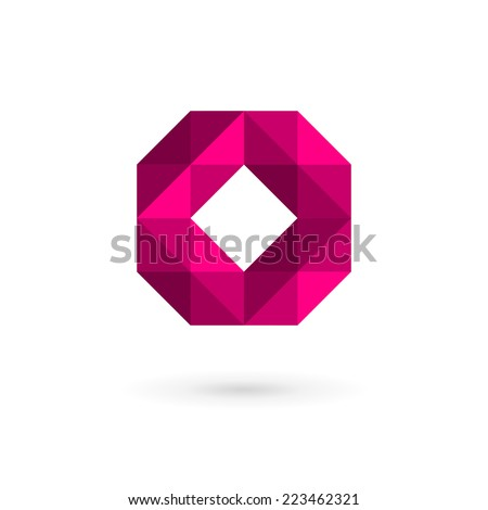 Letter O mosaic logo icon design template elements  - stock vector