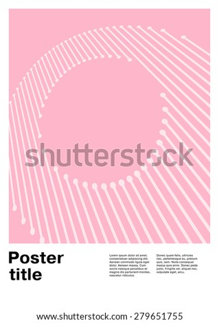 Letter O on Swiss Poster - stock vector