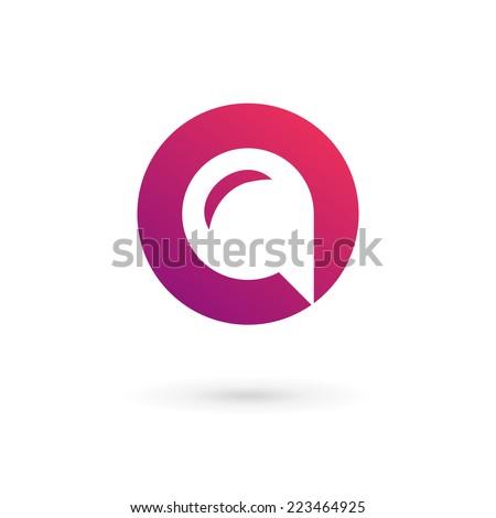 Letter O speech bubble logo icon design template elements  - stock vector