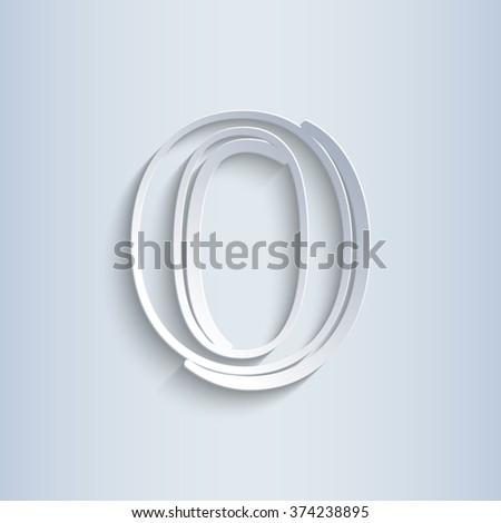 Letter O, vector alphabet - stock vector