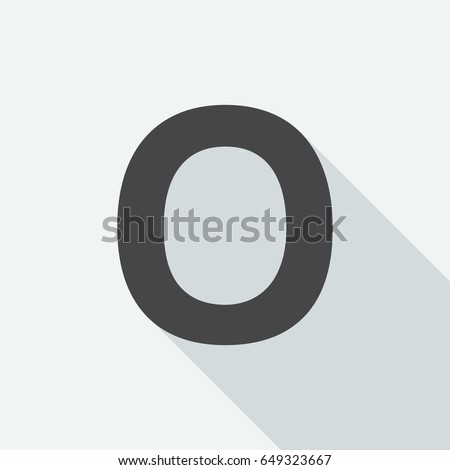 Letter O Long Shadow On White Stock Vector 649323667 Shutterstock