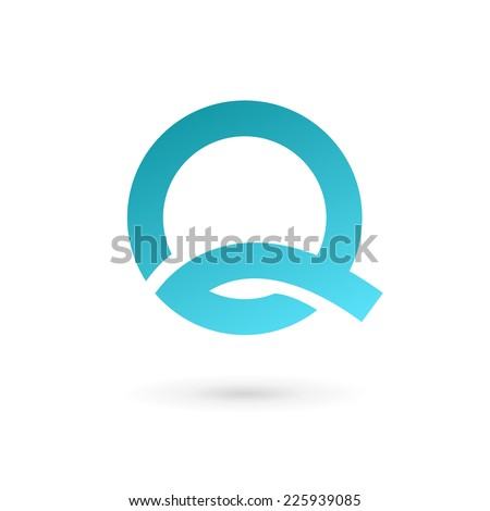 Letter Q logo icon design template elements  - stock vector