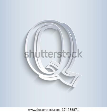 Letter Q, vector alphabet - stock vector