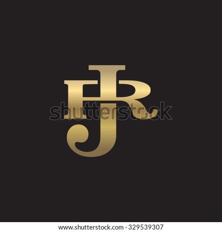 Letter R J Monogram Golden Logo Stock Vector 329539307 Shutterstock